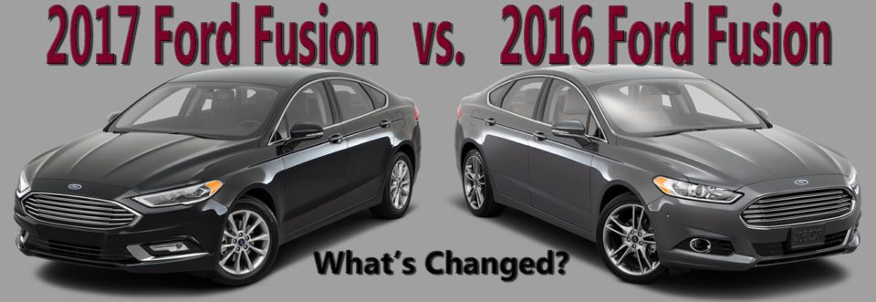 2017 Ford Fusion Vs The 2016