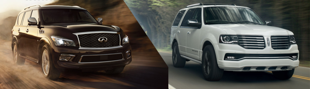 Infiniti QX80 and Lincoln Navigator