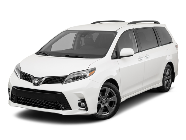 Exterior view of the 2020 Toyota Sienna minivan