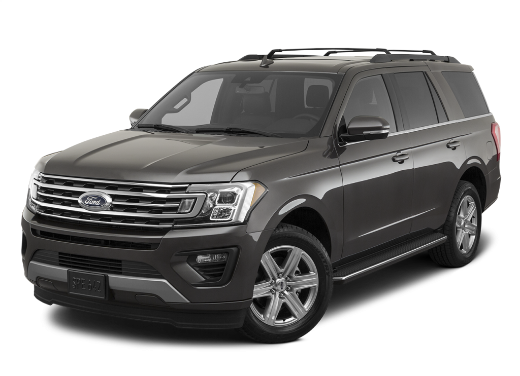 A gray 2020 Ford Expedition against a white background.