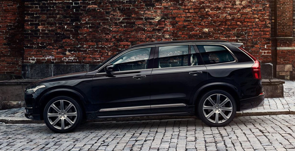 Volvo XC90 against a brick wall