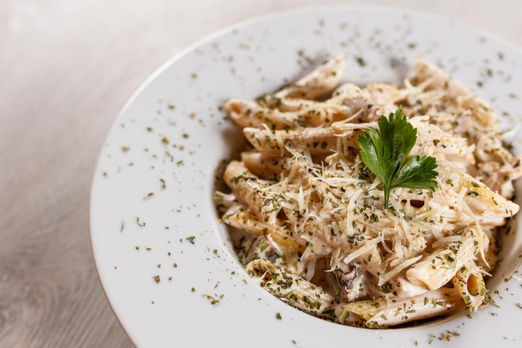 Quattro formaggi (four cheeses) Italian pasta
