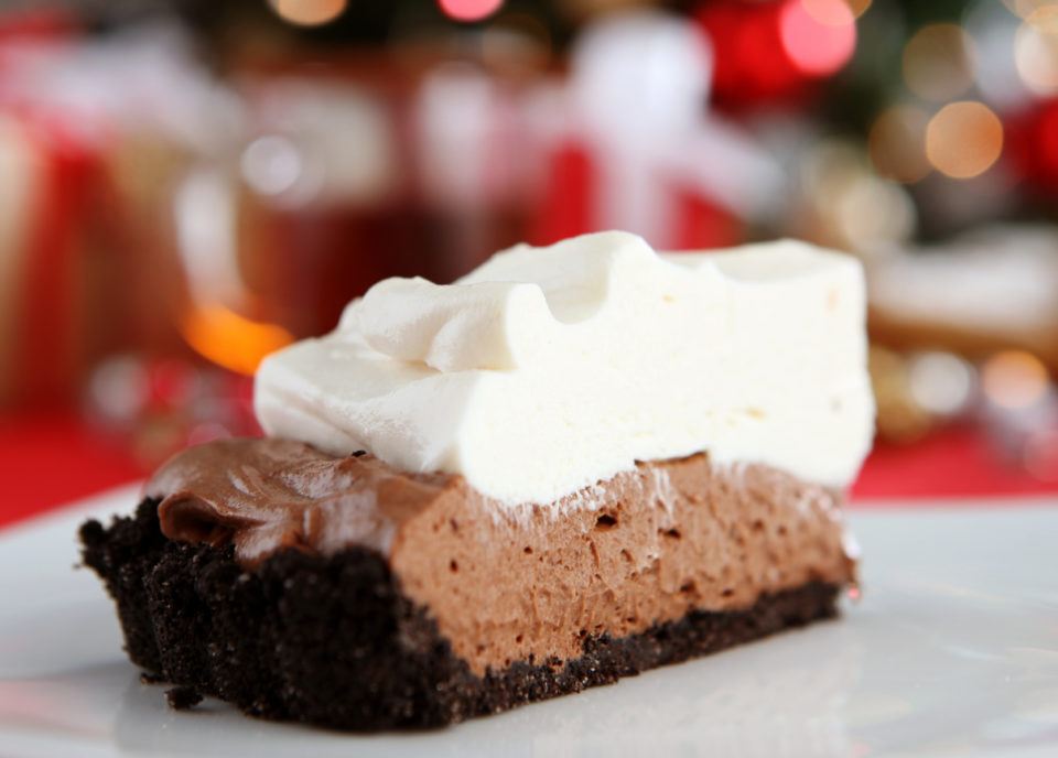 Slice of chocolate pie