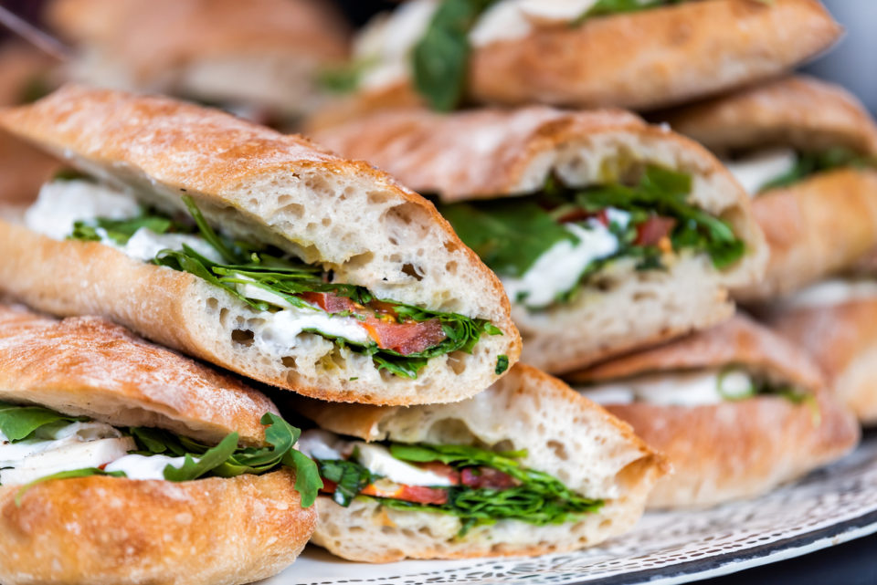 fresh panini sandwiches